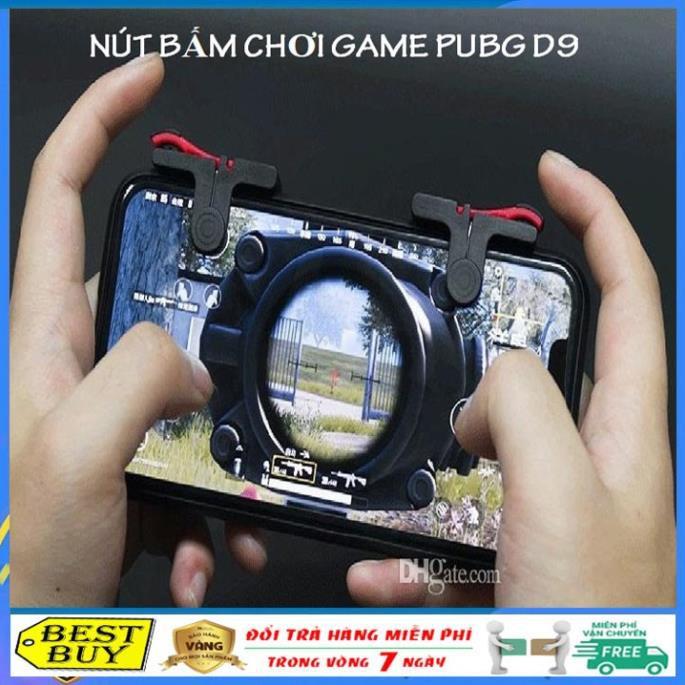 Bộ 2 nút bấm cơ chơi game D9, nút bấm chơi game pubg mobile, Ros, Free Fire, Knight Out
