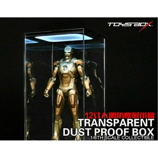 1/6 LED Toys Box Transparent Display Box Dust Proof Case Fit 12″ Action Figure