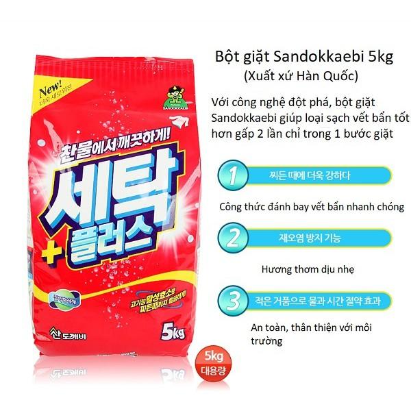Bột giặt Sandokkaebi 5kg