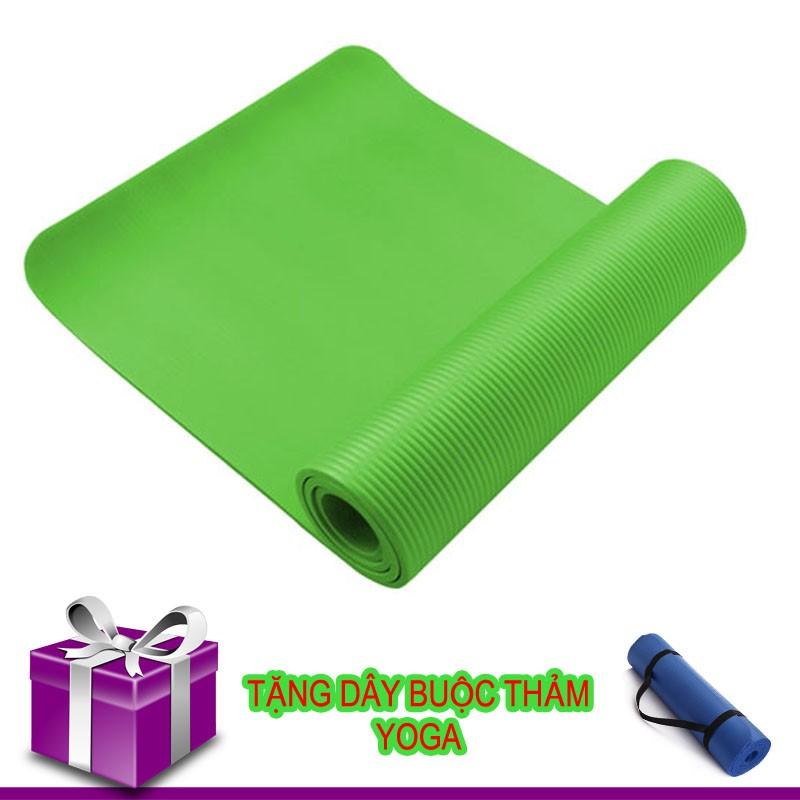 Thảm Tập Yoga TPE Siêu Bền Loại Dày 10mm + Dây