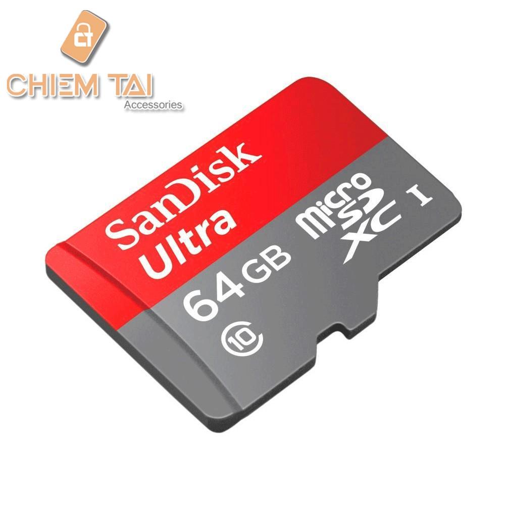 Thẻ nhớ MicroSD Sandisk Ultra 64gb Tốc độ 80MB/s Class 10 - 2976782 , 307888789 , 322_307888789 , 370000 , The-nho-MicroSD-Sandisk-Ultra-64gb-Toc-do-80MB-s-Class-10-322_307888789 , shopee.vn , Thẻ nhớ MicroSD Sandisk Ultra 64gb Tốc độ 80MB/s Class 10