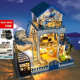 Đồ trang trí Mô hình nhà lắp ghép có đèn Meet Love Sea TYU 15B DochoiHCM