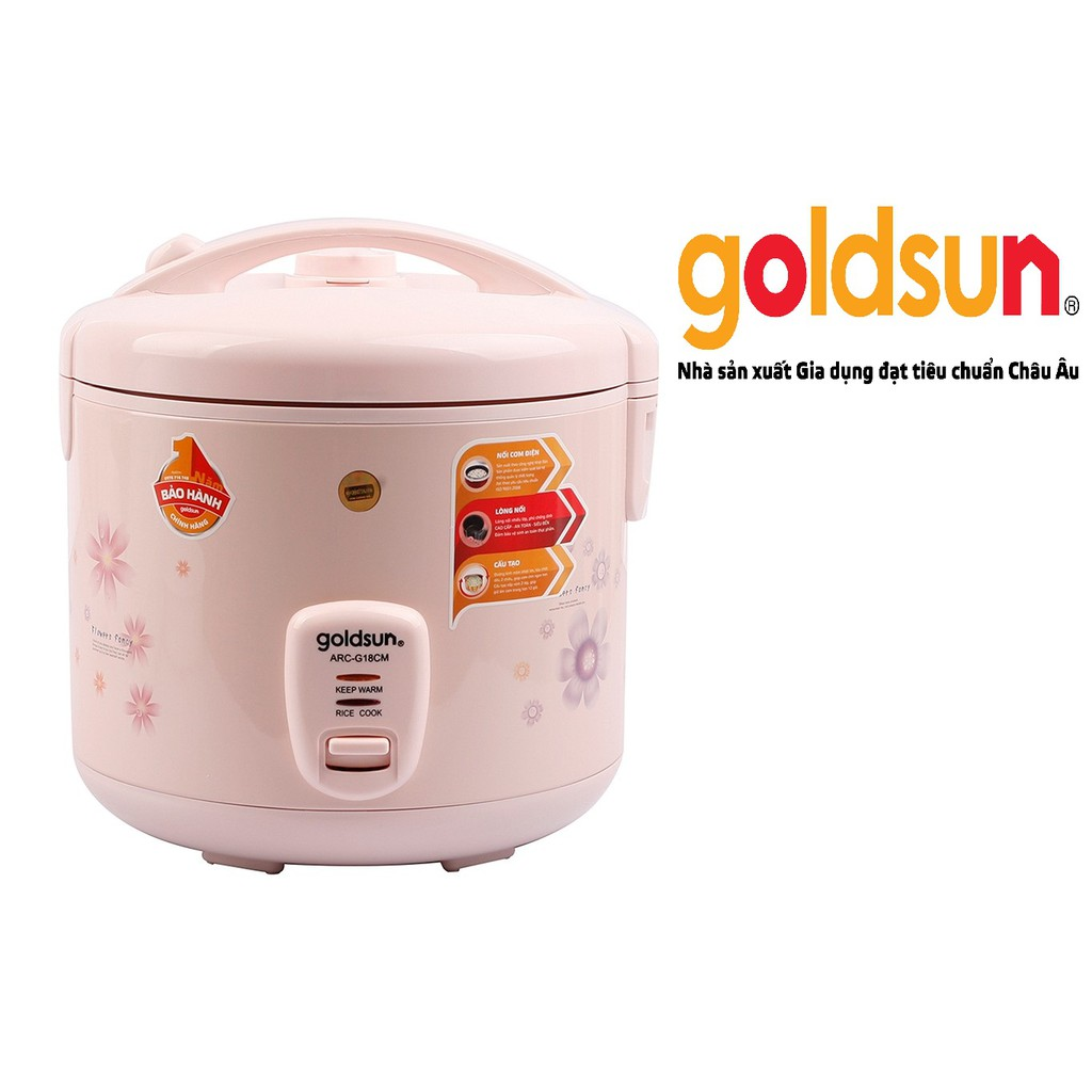 Nồi cơm điện Goldsun 1,8 lít ARC-G18CM