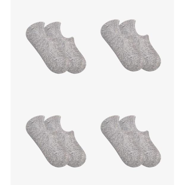Combo 4 đôi tất lười màu xám Coolmate chất liệu Cotton Organic chống trượt khử mùi