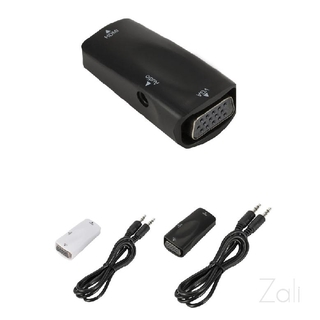 HDMI to VGA Adapter 720P Female to Female Converter with 3.5 mm Audio for Monitor Projector Laptop HDTV 941