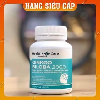 Viên Uống Bổ não/ Hoạt huyết dưỡng não Healthy Care Ginkgo Biloba Úc 2000mg