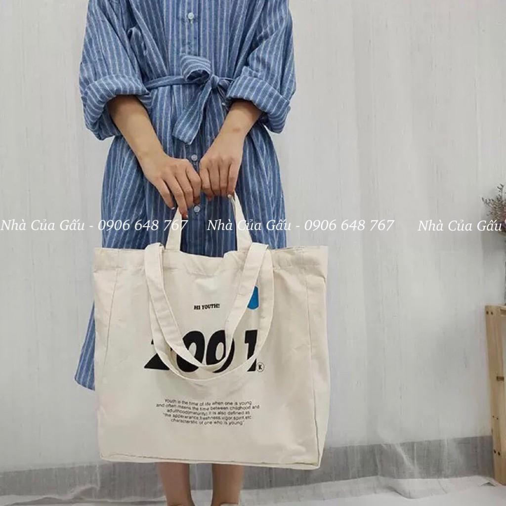 Túi tote vải đẹp 2001 cực chất