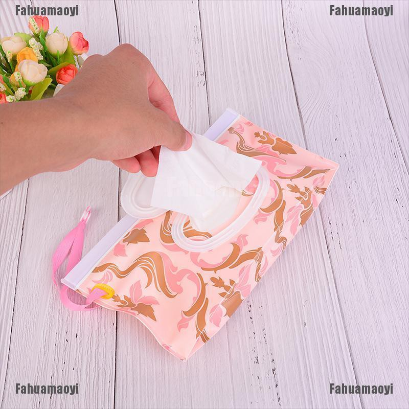 fahuamaoyi.th Clutch and Clean Wipes Carrying Case Eco-friendly Wet Wipes Bag Cosmetic Pouch