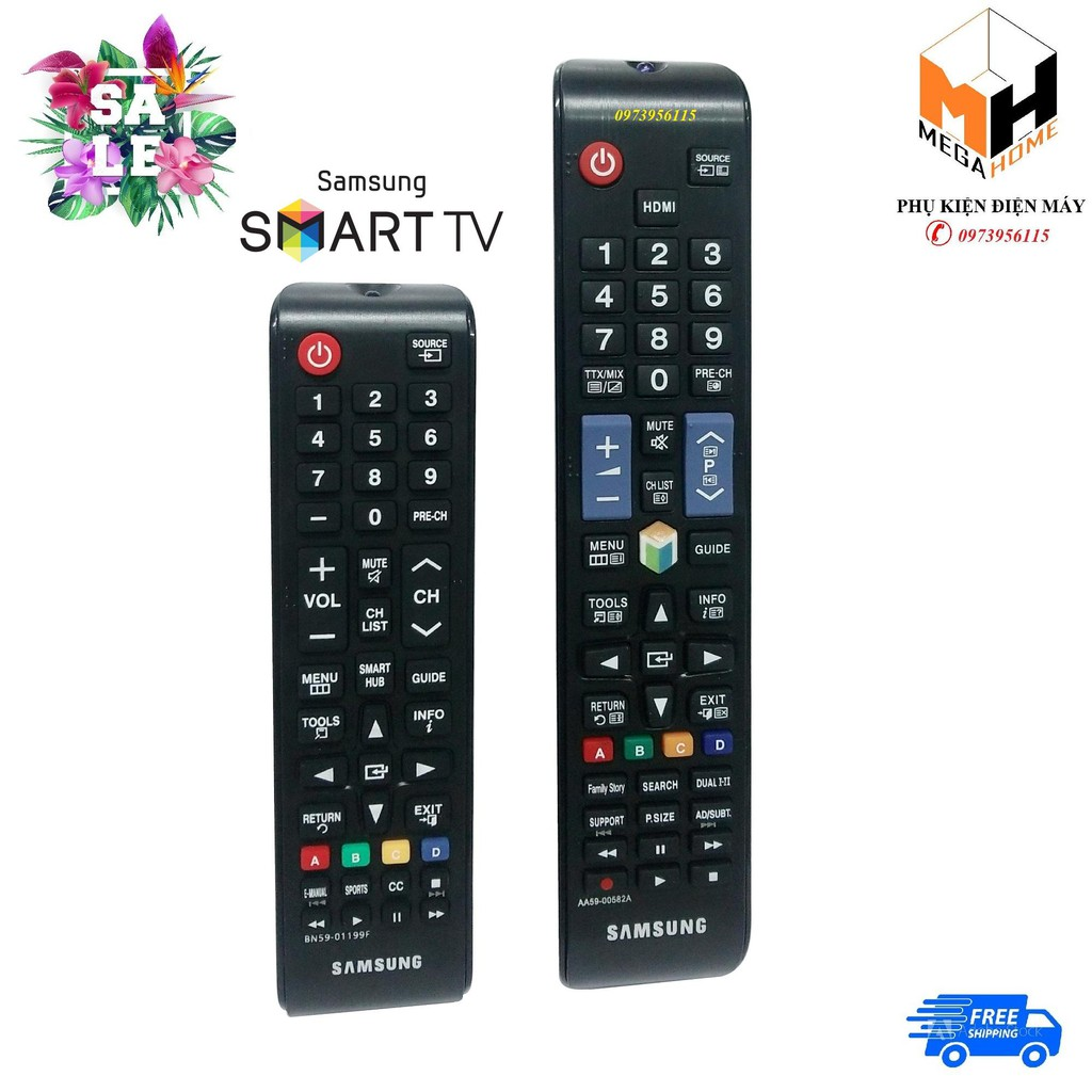 Điều khiển, remote tivi samsung smart (hàng loại 1)