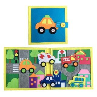 Sách vải giao thông Dành cho bé mầm non từ 1 6 tuổi Sách Vải Xuất Khẩu Châu Âu