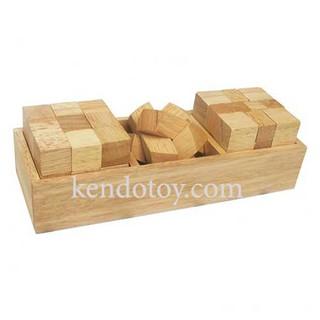 Bộ ba thách thức | Đồ chơi gỗ trí tuệ logic