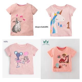 Áo thun trẻ em, áo phông bé gái, áo cộc tay bé gái 2-8 tuổi hè 2021 của Little Mavens (10-30kg)