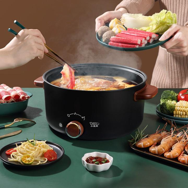 Nồi điện đa năng gia đình Lotor, Nấu ăn nhanh chóng tự động ngắt khi đạt đủ nhiệt độ an toàn tiện lợi