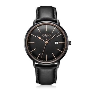 [Mã FARSBR153 giảm 15% đơn 150K] Đồng hồ nam JAH-130B Julius Hàn Quốc dây da (đen)