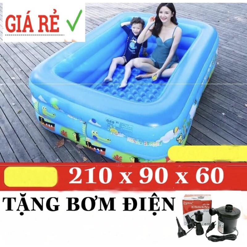 Bể Bơi Phao 210x150x60 Tặng Bơm Điện