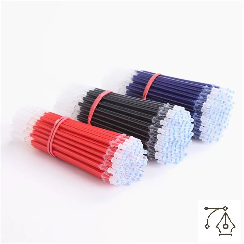 [Mã BMSIEULSALE giảm 15% đơn 150k] Set 50 ruột bút nước Pison màu đỏ xanh đen