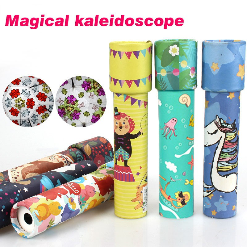 Children Classic Toy Kaleidoscope Rotatable Top Toddler Sensory Toys Kids Gift