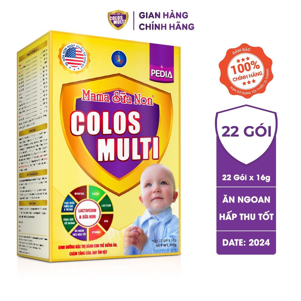 [Mã FMCGMALL giảm 8% đơn từ 250K] Sữa bột Colosmulti Pedia hộp 22 gói x 16g chuyên biệt hỗ trợ giúp bé ăn