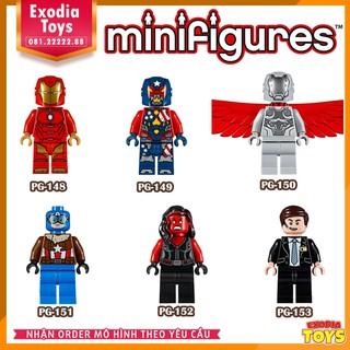 Bộ 6 minifigure nhân vật siêu anh hùng Avenger vũ trụ Marvel – Đồ chơi lắp ghép sáng tạo – PG8043