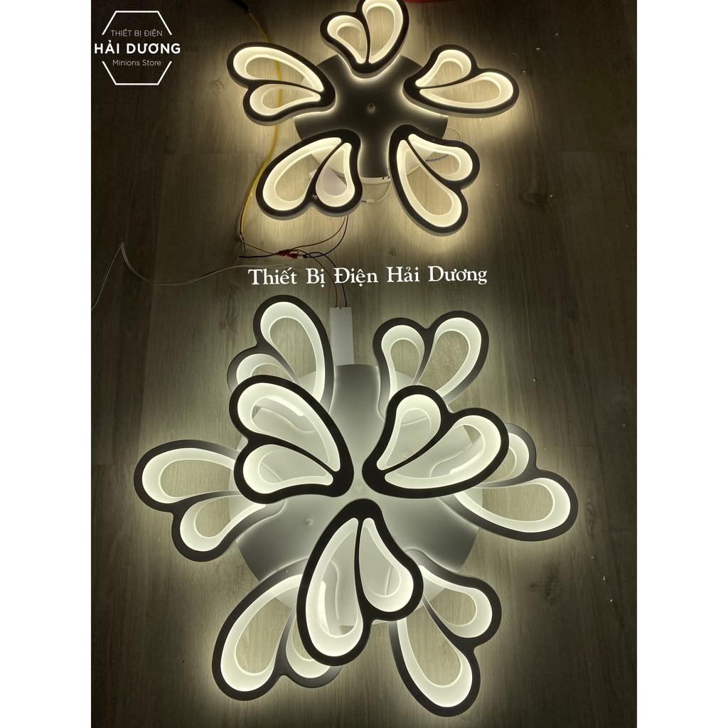 Đèn Ốp Trần Decor 9 Cánh Bướm NT020 - 3 Chế Độ Ánh Sáng - Tăng Giảm Ánh Sáng - Điều Khiển Từ Xa - Kết Nối Điện Thoại