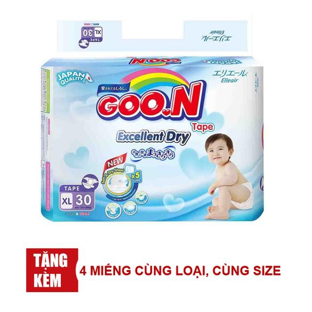[TẶNG THÊM 4 MIẾNG CÙNG SIZE]Tã quần/giấy Goon Slim NB48/S44/M38/L32/XL30/M32/L26