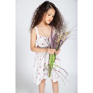 Đầm Thun 2 Dây Họa Tiết Xinh Xắn Dành Cho Bé Gái (2-11 Tuổi ) Jookyli