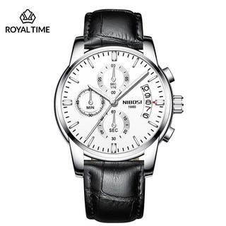[Tặng vòng tay] Đồng hồ nam NIBOSI chính hãng NI2353.15 ( Dây da ) fullbox cao cấp