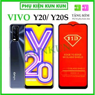 Kính Cường Lực Vivo Y20 Y20S - Cao Cấp - Full màn hình 11D - Độ cứng 9H - Độ trong suốt cực cao [FreeShip_50K] thumbnail