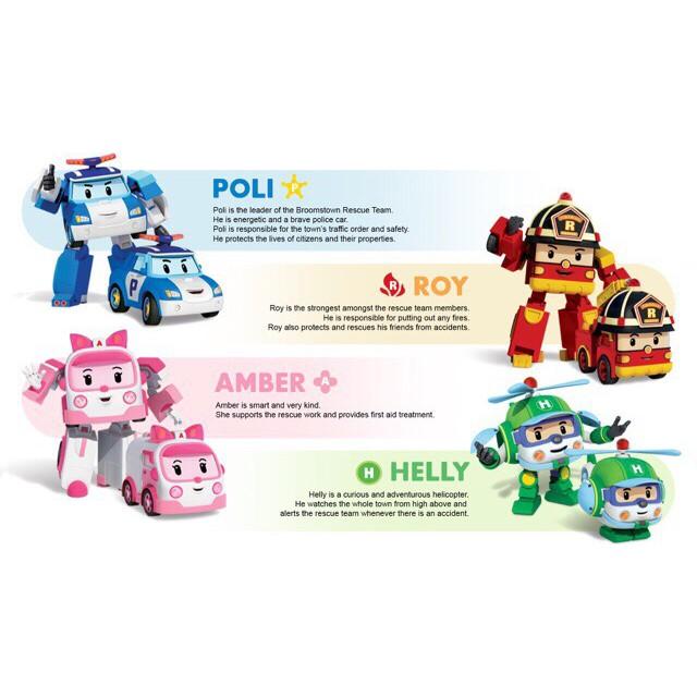 [GIÁ SẬP SÀN] Bộ 6 Biệt Đội Robocar Poli Biến Hình