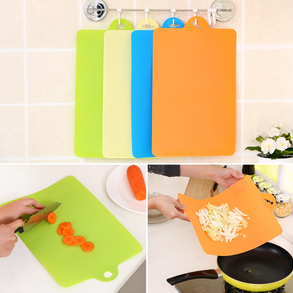 Non Slip Plastic Chopping Mat Vegetable Fruit Cutting Board Kitchen Gadgets Camping Cooking Supplies Sporting Goods