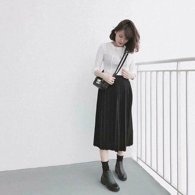 Chân váy dài xếp li- Chân váy vintage - 3413881 , 1309041510 , 322_1309041510 , 59000 , Chan-vay-dai-xep-li-Chan-vay-vintage-322_1309041510 , shopee.vn , Chân váy dài xếp li- Chân váy vintage