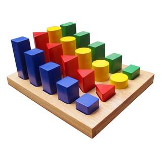 Đồ chơi gỗ – Bộ hình học cao thấp Winwin Toys