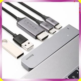 Đầu chuyển đổi Hub cao cấp 5 trong 1 dành cho máy Macbook chính hãng Baseus - Mã: CAHUB-B0G