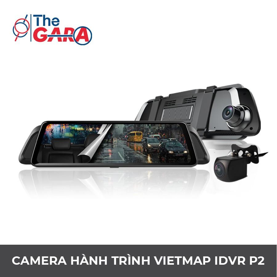 Camera Hành Trình VietMap iDVR P2 + Thẻ nhớ 32GB | Full HD 1080p, Ghi hình  trước sau
