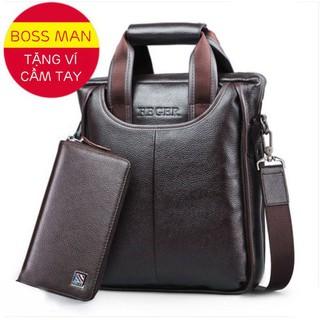 Túi đeo nam cao cấp – FEGER 8895 – Chất liệu da sang trọng / Tặng kèm ví da cầm tay