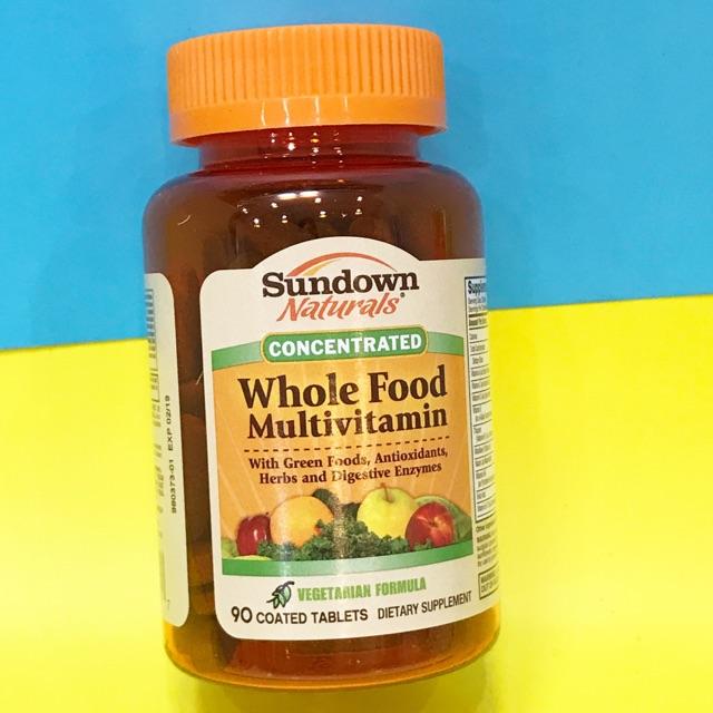 đa vitamin cho người ăn chay Sundown Whole multivitamins