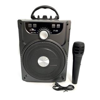 [Mã ELORDER5 giảm 10K đơn 20K] Loa Kéo Bluetooth P.88 P.89 KIOMIC Tặng Kèm Micro Hát Karaoke Cực Hay - Loa Di Dong
