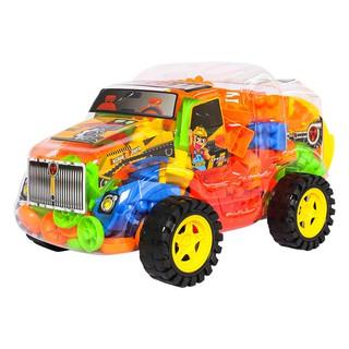 Đồ chơi Lắp Ráp Xe Kéo Công Trình Racing Car Lele Brother (8332-2)