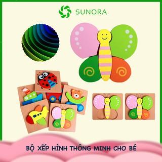 Đồ chơi xếp hình tranh ghép gỗ 3D nhiều hình ngộ nghĩnh – Phát triển trí tuệ cho bé từ 2 – 4 tuổi