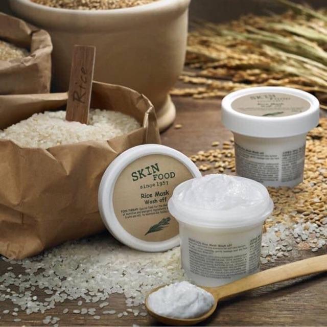 Kết quả hình ảnh cho Mặt Nạ Gạo Skinfood Rice Soft Scrub Mask Wash Off