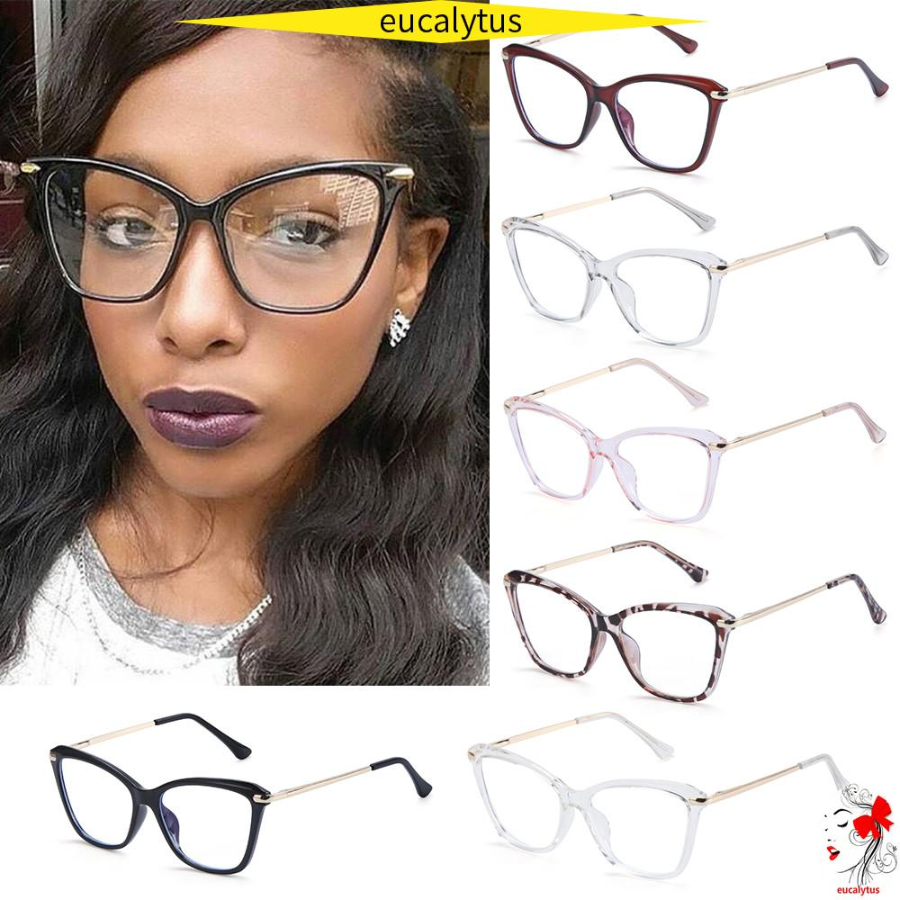🌸EUTUS🌸 Fashion Computer Glasses Reading Gaming Glasses Eyeglasses Blue Light Blocking Glasses Women & Men Square Frame Anti Eye Eyestrain...