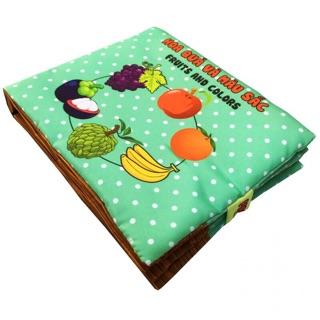 Sách vải cho bé chủ đề hoa quả màu sắc và số đếm