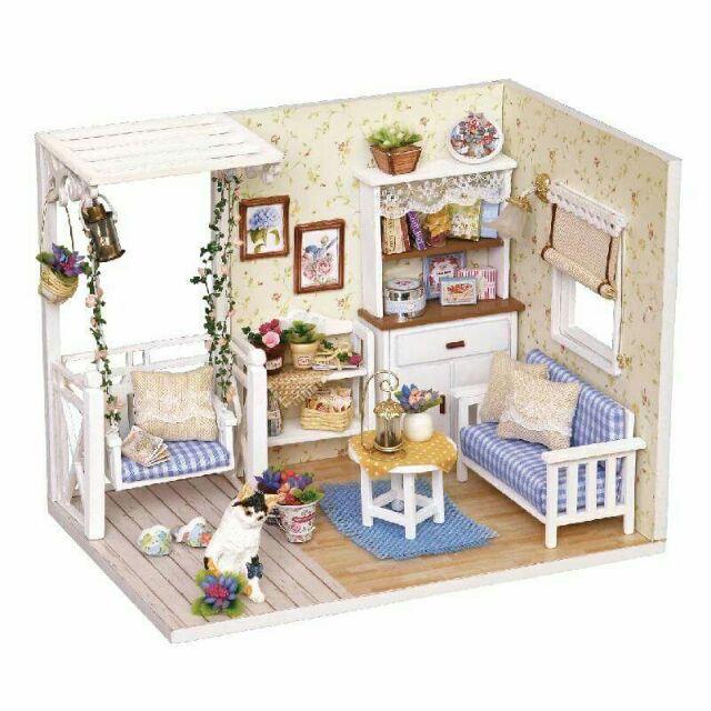 Mô hình nhà gỗ búp bê dollhouse DIY – H013 Kitten Diary