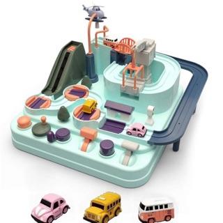 Bộ đồ chơi xe chạy trên đường ray ô tô mê cung kì diệu giải cứu thành phố FriendGO 2020 - đồ chơi STEM cho bé 2-6 tuổi thumbnail