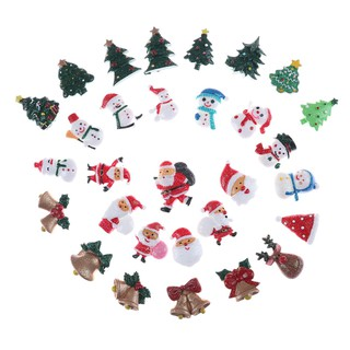 [BEW] 10pcs Dollhouse Christmas Decor Snowman Tree Diy Mini Decoration Hairpin Craft [OL]