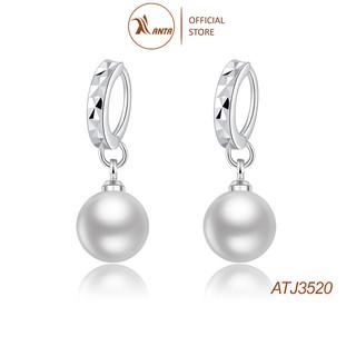 Bông tai bạc 925 -  Khuyên tai nữ trang đính ngọc trai thiết kế thanh lịch ANTA Jewelry - ATJ3520