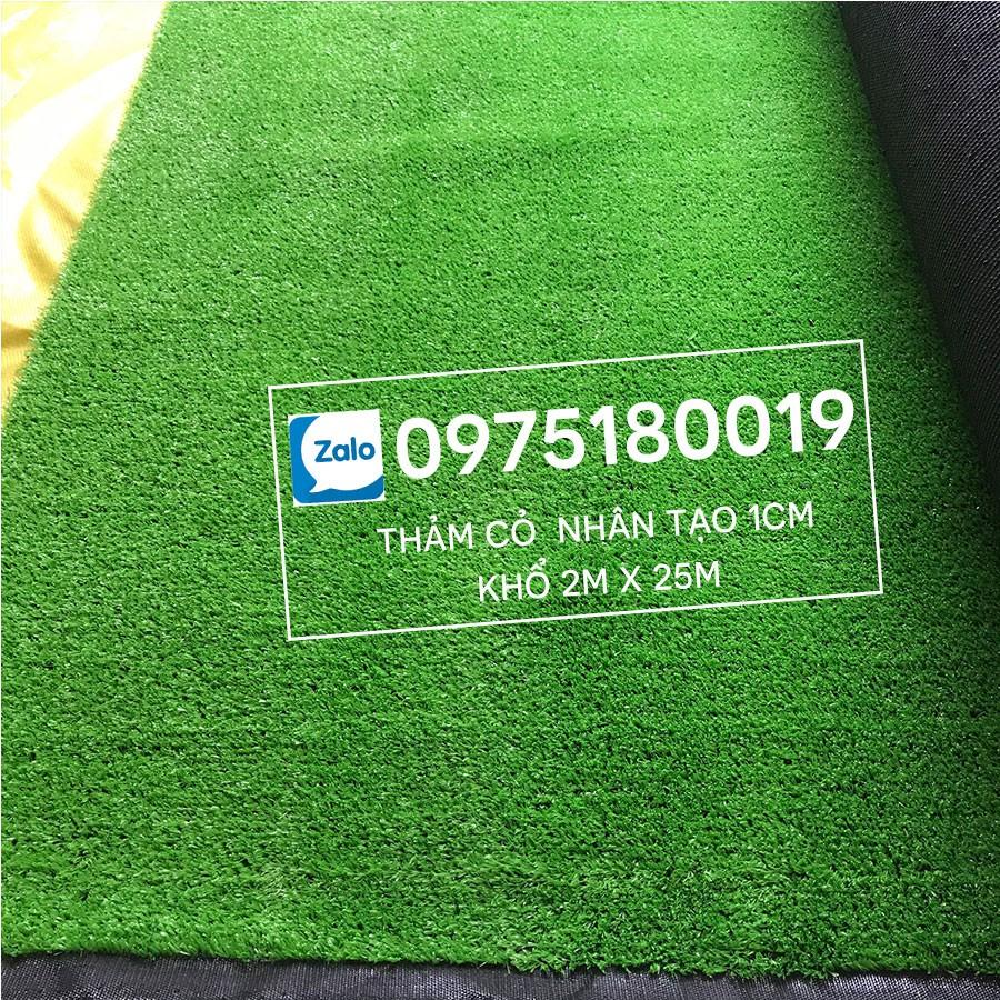 Thảm cỏ nhân tạo 1cm xanh non - Chuyên trải sân vườn trang trí nhà   Cỏ nhân tạo SG