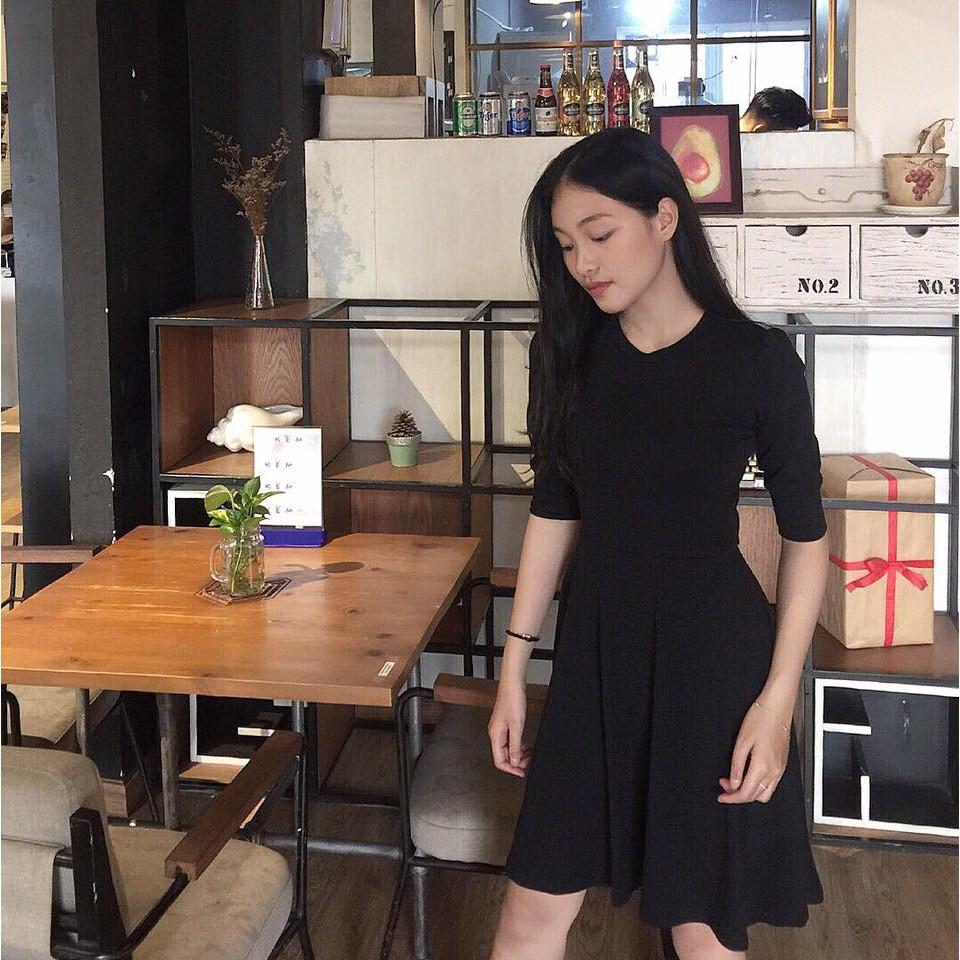 Đầm Xòe Basic Đủ Màu