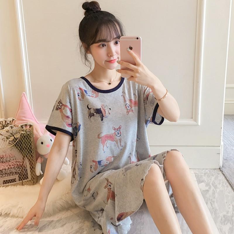 Bộ đồ ngủ nữ bằng vải cotton mùa hè phiên bản Hàn Quốc của phim hoạt hình dễ thương ngọt ngào có thể được mặc bên ngoài - 15145628 , 2808313849 , 322_2808313849 , 300300 , Bo-do-ngu-nu-bang-vai-cotton-mua-he-phien-ban-Han-Quoc-cua-phim-hoat-hinh-de-thuong-ngot-ngao-co-the-duoc-mac-ben-ngoai-322_2808313849 , shopee.vn , Bộ đồ ngủ nữ bằng vải cotton mùa hè phiên bản Hàn Q