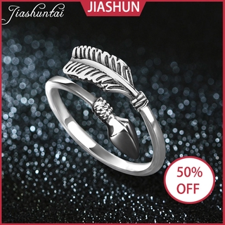 READY STOCK Jiashun 925 Silver Rings for Men Cupid Arrow Ring Tail Ring Couple Rings
